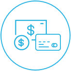 Convenient Credit Card or Cash Payment Image